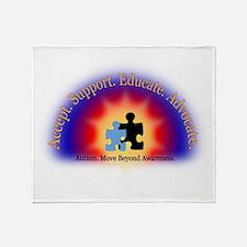 Beyond Awareness (Autism) Throw Blanket