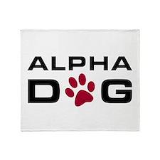 Alpha Dog Throw Blanket