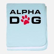 Alpha Dog baby blanket