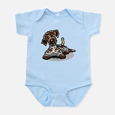 Funny Pointing Griffon Infant Bodysuit
