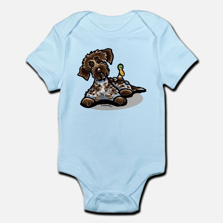 Funny Pointing Griffon Infant Bodysuit