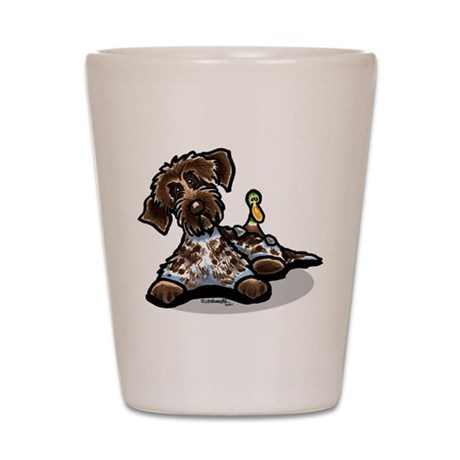 Funny Pointing Griffon Shot Glass