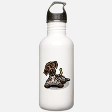 Funny Pointing Griffon Water Bottle