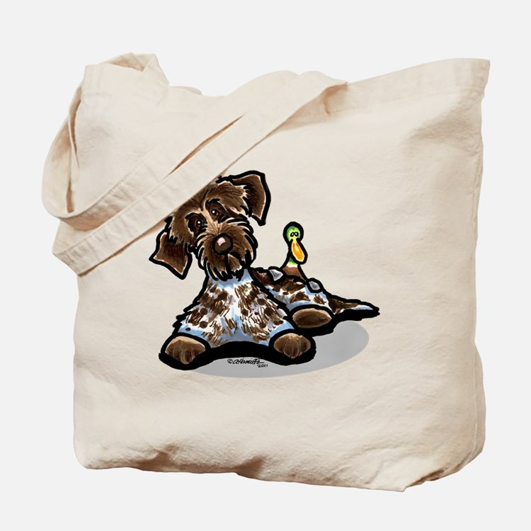 Funny Pointing Griffon Tote Bag