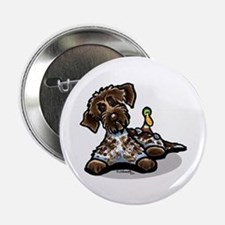 """Funny Pointing Griffon 2.25"""" Button"""