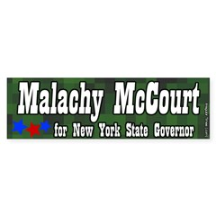Malachy McCourt for Governor Bumper Bumper Sticker