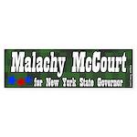 Malachy McCourt for Governor Bumper Sticker