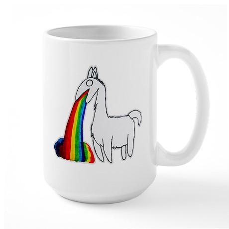 Llama Vomit Large Mug