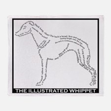 Cute Whippets Throw Blanket