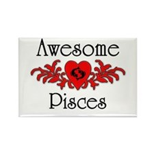Cute Astrology pisces Rectangle Magnet
