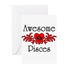 Cute Pisces Greeting Card