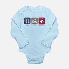 Eat Sleep Soccer - Men's 2 Long Sleeve Infant Body