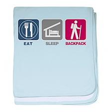 Eat Sleep Backpack - Picto baby blanket