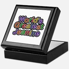 World's Greatest Jeanine Keepsake Box
