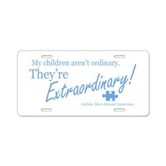 Extraordinary! (Children) Aluminum License Plate
