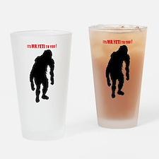 Mr. Yeti Drinking Glass