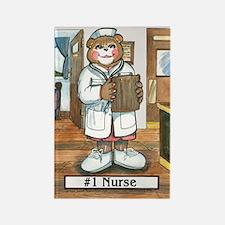 Nurse, Female - Rectangle Magnet (10 pack)