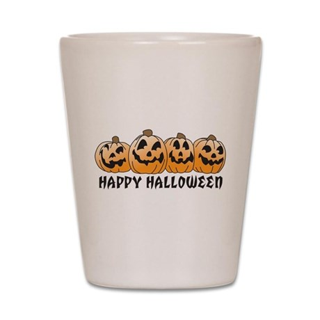 Halloween Jack-O-Lanterns Shot Glass