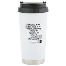 Buck Impossible Quote Travel Coffee Mug
