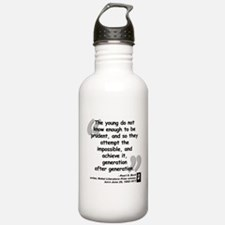 Buck Impossible Quote Water Bottle