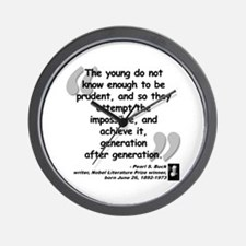 Buck Impossible Quote Wall Clock