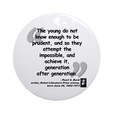 Buck Impossible Quote Ornament (Round)