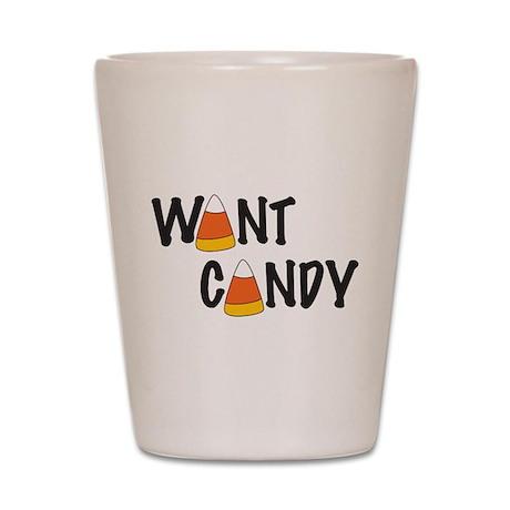 Want Candy Corn Shot Glass