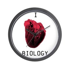 Biology (red) Wall Clock