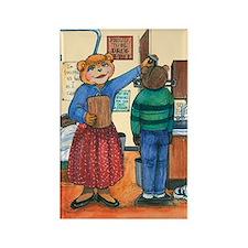 School Nurse, Blue Blouse - Rectangle Magnet (10