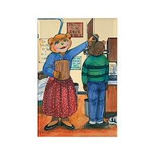 School Nurse, Blue Blouse - Rectangle Magnet