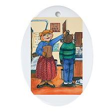 School Nurse, Blue Blouse - Oval Ornament