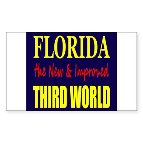 Florida New 3rd World Sticker (Rectangle 10 pk)