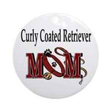 Curly Coated Retriever Mom Ornament (Round)