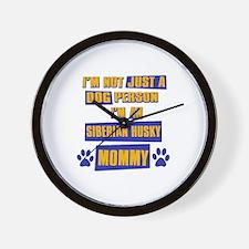 Siberian husky Mommy Wall Clock