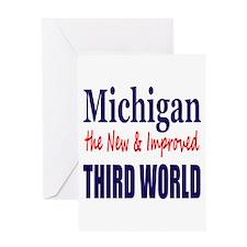 Michigan New 3rd World Greeting Card