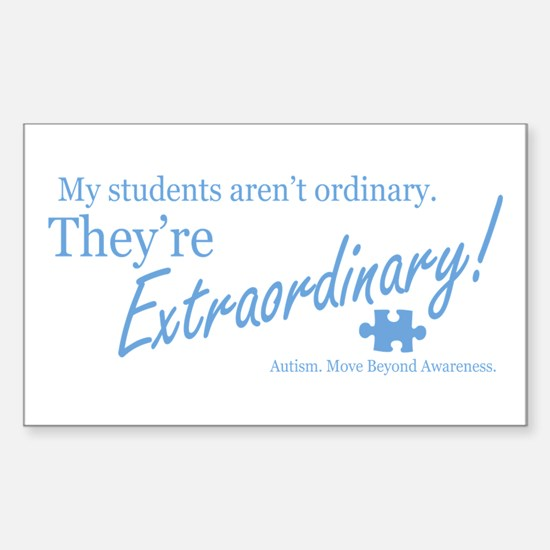 Extraordinary! (Students) Sticker (Rectangle)