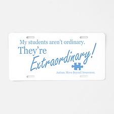Extraordinary! (Students) Aluminum License Plate