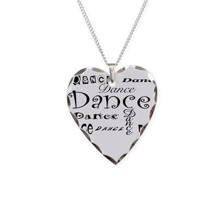 Dance Necklace Heart Charm