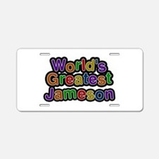 World's Greatest Jameson Aluminum License Plate