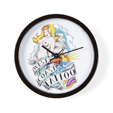West Coast Tattoo Wall Clock