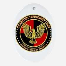 Counter Terrorist Seal Oval Ornament