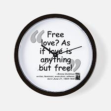 Goldman Love Quote Wall Clock
