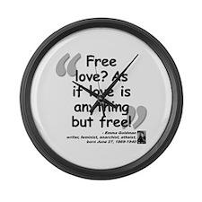 Goldman Love Quote Large Wall Clock