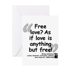 Goldman Love Quote Greeting Card