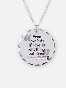 Goldman Love Quote Necklace