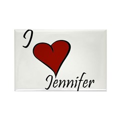 I love Jennifer Rectangle Magnet