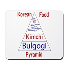 Korean Food Pyramid Mousepad