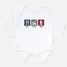 Eat Sleep Hike - Picto Long Sleeve Infant Bodysuit