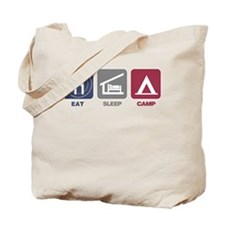Eat Sleep Camp - Picto Tote Bag