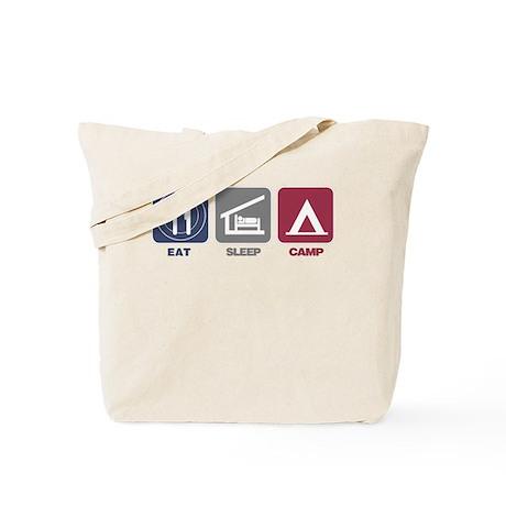Eat Sleep Camp - Picto Tote Bag